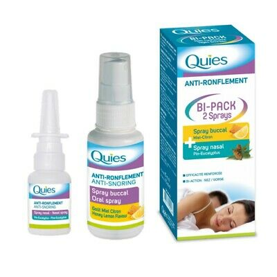 Quies Anti-Ronflement Bi-Pack Sprays Buccal + Nasal