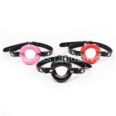 Open Mouth Gag Silicon Lips Foreplay Couple Restraint Games Foreplay Fetish Toy