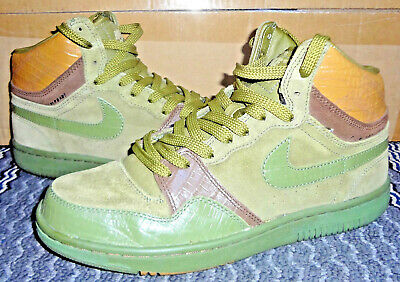 afea2ca635a 2005 Nike Court Force Hi Green brown World Cup Men 9.5 Sneakers Shoes  313385-