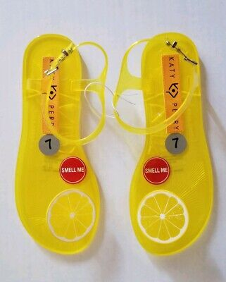 36c73f7c481d KATY PERRY GELI Lemon Flat Sandal SZ 5 US Rare Sold Out Fruit ...