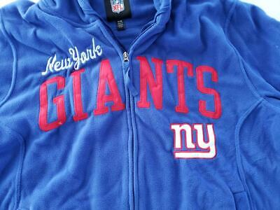 b583248f6 New York Giants NFL Full Zip Up Thermal Hoodie XL Football Embroidered  BRAND NEW