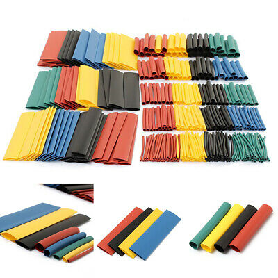 8 Sizes Heat Shrink Tubing Tube Assortment Wire Cable Insulation Sleeving Kit