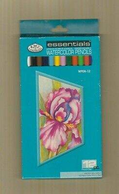 Royal Langnickel Essentials  Watercolor Pencils 12 Pc Set