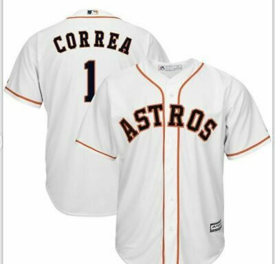 ba01115a1 Carlos Correa  1 Houston Astros men s jersey made by Majestic - size L - nwt