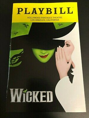 Wicked National Tour Playbill (January 2019) with inserts