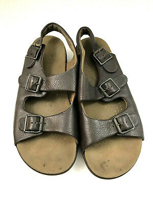 874b19e6f0f6 SAS Men s Size 10 Bravo Comfort Sandals Brown Leather Adjustable Buckle  Strap