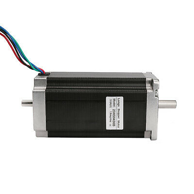 Free Ship 1PC Nema23 Stepper Motor 425oz-in 3A Dual shaft CNC Engrave kits