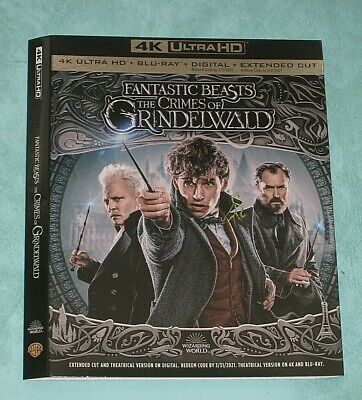 FANTASTIC BEASTS, FORREST GUMP,  FIRST MAN  4K Blu ray slipcover