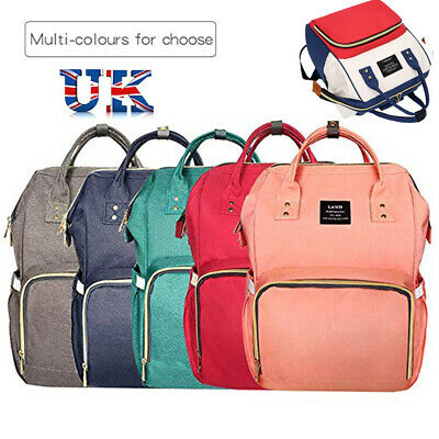 Multi-use Large Mummy Baby Diaper Nappy Backpack Mom Changing Travel Luggage Bag