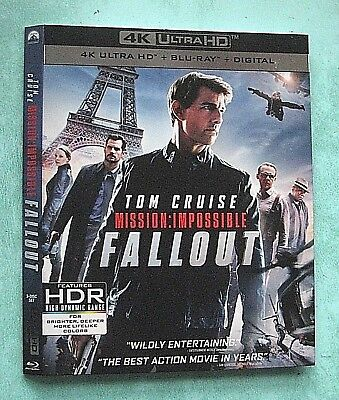 MISSION IMPOSSIBLE, MUMMY  4K Blu ray slipcover