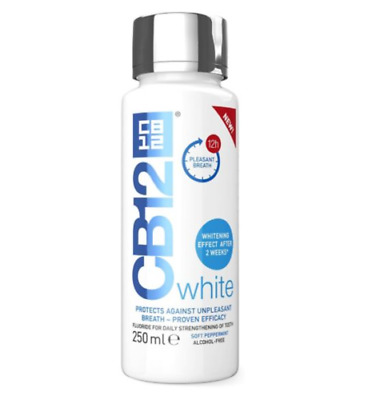 CB12 White Mouthwash Teeth Whitening Bad Breath Stain Remover Fresh 250ml