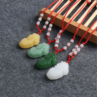 1X Green Jade Feng Shui Pendant Lucky Fortune Mythical Wild Animal pixiu Pendant