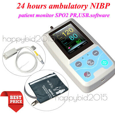 FDA PM50 Portable Patient Monitor Vital Signs NIBP SPO2 Pulse Rate Meter,USA
