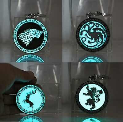 Game of Thrones glowing keychain LED light Stark Targaryen Lannister Baratheon