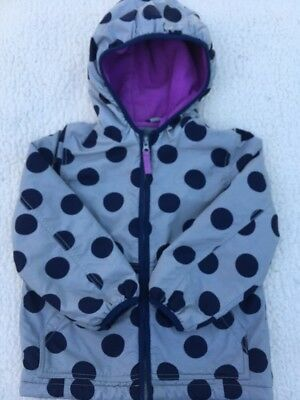 Lovely Mini Boden girls Casual Jacket age 5 Years Grey Navy Spotty