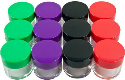 Set Of 12 20 ML Color Coded Small Plastic Jars An Organizer Storage for Screw