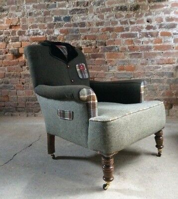 Antique Armchair The Country Tweed Armchair Bespoke Tailor Made Unique
