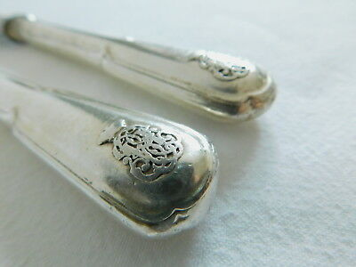 Pair of Antique Christofle Fruit Knives With Crown Crest & Monogram