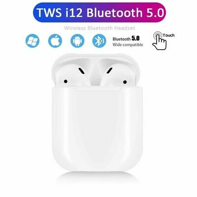 i12 TWS Wireless Earbuds Bluetooth 5.0 Mini Earphone Headphone Touch Control New