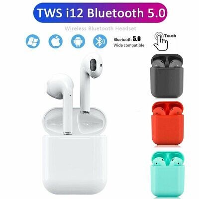 i12 TWS Bluetooth 5.0 Earphones Wireless Earbuds Headphone For Airpods iPhone