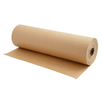 Prettyia 30m Brown Kraft Parcel Paper Roll for Wrapping Parcels 30cm