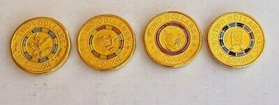 2019 $2 Coins - 60th Anniversary Mr Squiggle and Friends Coloured Unc 4 coin set