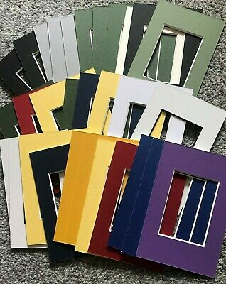 30 Assorted Colours  Picture Frame Mounts 6X4 Overall For 3.5  X 2.5 Inch Photo