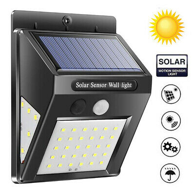40/60 LED Solar Power Motion Sensor Garden Lamp Outdoor Waterproof 3 Sided Light