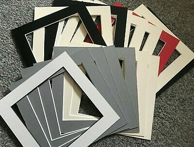 16 Square Picture Frame Mounts 8X8 Inch Overall For 6X6 Photo Assorted Colours