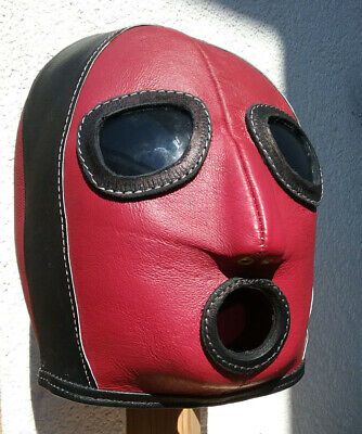 100 % Ledermaske, hochwertiges Glas, handgefertigt. 100 % Leather Mask, handmade