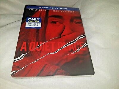 A Quiet Place Blu-ray + DVD Best Buy Exclusive Debossed Steelbook New and Sealed