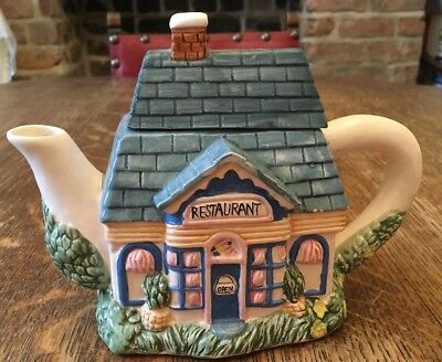 Collectable Teapot Country Village Restaurant - Small- 14.5cm Tall