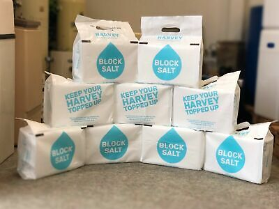 9x Packs of Harvey's Block Salt (18 Blocks) - Free Next Day Delivery