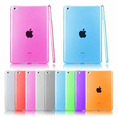 For iPad Pro Mini 2/3/4 Air Ultra Transparent TPU Silicone Case Stand Slim Cover