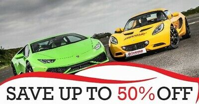 50% OFF Supercar Driving Experience Voucher