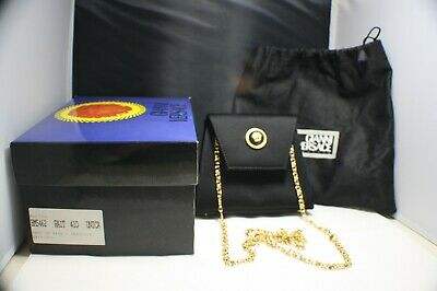 cb39d7dc75 GIANNI VERSACE VINTAGE Woman Evening Bag ( Navy ) New With Box ...