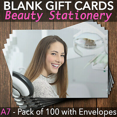 Gift Voucher Dentists Orthodontics Tooth Whitening Stomatology x100 + Envelopes
