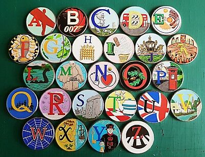 2018 coloured 10p coin stickers prof made. high quality and colour x 26 new