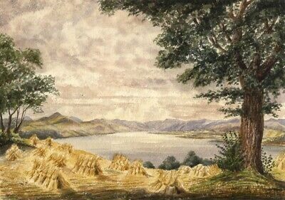 Carse of Gowrie, Scotland - Original mid-19th-century watercolour painting