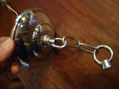 """4 7/8"""" Dameter Chrome Finish  Ceiling Canopy Chain Finial Chandelier Lamp Parts"""