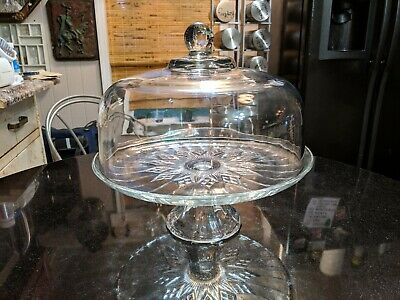 Beautiful Turn of The Century Glass Covered Cake Plate