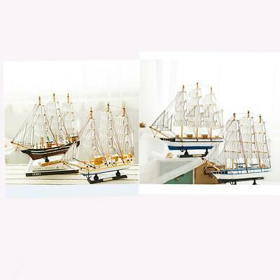 Retro Nautical Wooden Sail Boat Yacht Viking Pirate Ship Home Decor Collectables