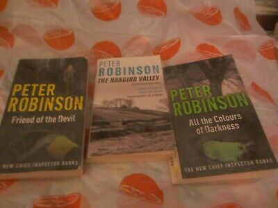 3 Peter Robinson Books ; Friend Of The  Devil; Hanging Valley; Colours  ( Lot 7)