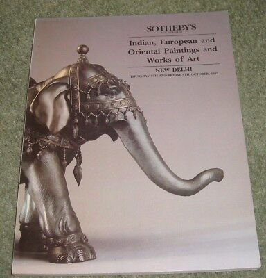 SOTHEBY'S Delhi Catalogue INDIAN & ORIENTAL PAINTINGS and WORKS OF ART 9/10/1992