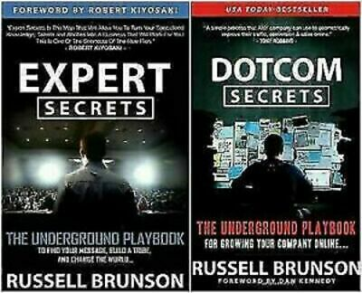 Expert Secrets + DotCom Secrets by Russell Brunson PDF book free fast shipping
