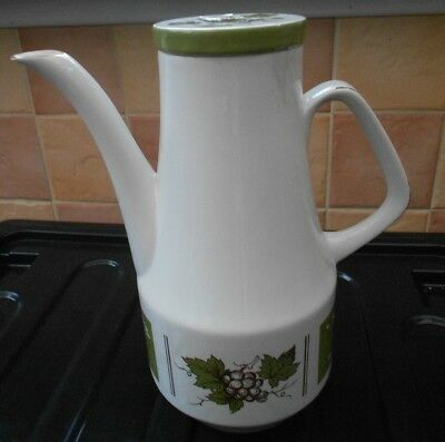 Vintage Hand Painted Coffee/Teapot By Wood & Sons c1960s/70s