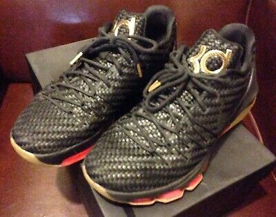 sports shoes eff57 39a12 Nike Basketball KD 8 EXT Woven Wonder Black Weave Size 11 With Box