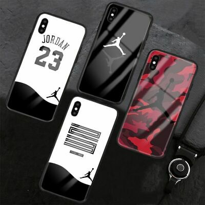 08816b4ad34998 Camouflage Jordan Flyman Air 23 Phone Case Glass Cover Skin Sport For iPhone  6 X