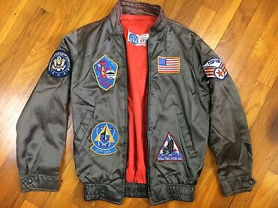 Vintage 1950s/60s USAF US Air Force Nylon Jacket w/ Patches Mens Size Large