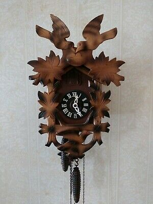 German Cuckoo Clock Mfg Co. West Germany Wood Vintage Musical Serviced w reciept